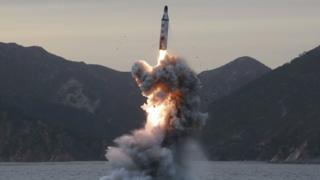 朝鮮在3月22日進行導彈測試