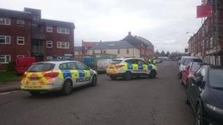 Scene of Trowbridge murder