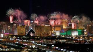 Celebración en Las Vegas
