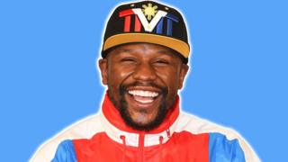 Floyd Mayweather with a big smile
