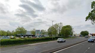 A27 dual carriageway outside Argos in Titchfield