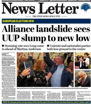 Tuesday's News Letter front page