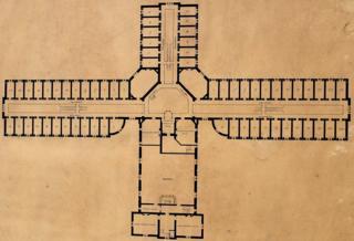 Plan of Reading Gaol - 19th Century