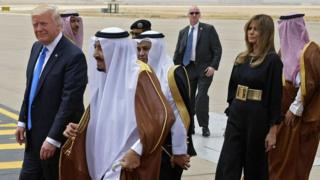 Donald Trump con el rey de Arabia Saudita