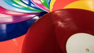 brightly coloured records