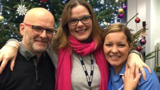 Charlotte Wright with Steve Race and Josie Vincent