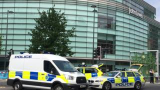 John Lewis department store being evacuated