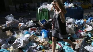 Yunanistan'da çöp grevi