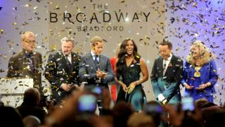 Alexandra Burke at the opening of the Broadway shopping centre in Bradford
