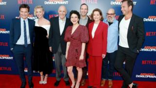 The cast of Arrested Development at the premiere of season five, May 2018