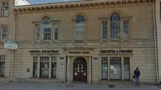 Former Swindon Advertiser building in Victoria Road, Swindon