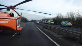 The Magpas Air Ambulance attended the scene