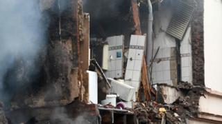 Damaged building in Wuppertal (24 June)