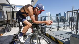 Jan Frodeno trains for the Frankfurt Ironman on 30/6