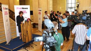 Arlene Foster at PinkNews event