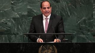 السيسي يلقي كلمة بالجمعية العامة للأمم المتحدة