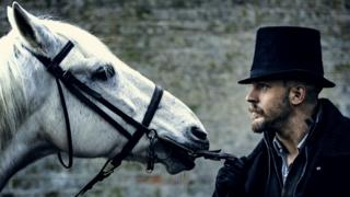 Tom Hardy and friend in Taboo