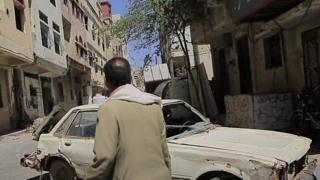 Footage obtained by the BBC gives a rare insight into life in the conflict-hit city of Taiz.