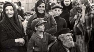 Bairro judeu em Chelmza, Polônia