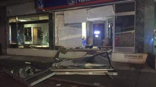 The front of the building society following the incident