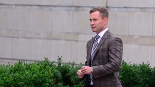 Carl Frampton arriving at court on 16 September