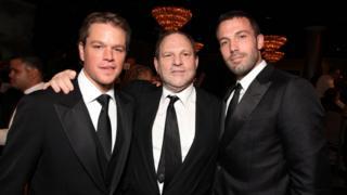 Matt Damon, Harvey Weinstein and Ben Affleck