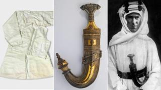 Robe, dagger, and T E Lawrence