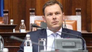 Premijerka Srbije Ana Brnabić i novi ministar finansija Siniša Mali u Skupštini Srbije, 29. maj 2018
