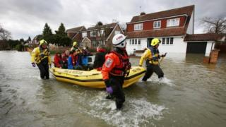 Flooding in Wraysbury