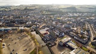 Hawick aerial view