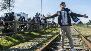 Migrante en Europa
