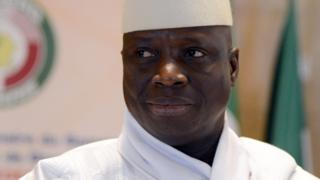President Yahya Jammeh of Gambia attends the 44th summit of the 15-nation west African bloc ECOWAS on 28 March 2014