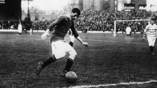 Billy Meredith in action for Manchester United in 1908