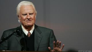 US evangelist Billy Graham
