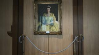 Queen Elizabeth's portrait in Parliament House in Canberra