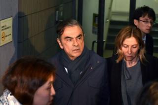Carlos Ghosn and his wife Carole Ghosn