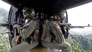 Helicopter crew in Venezuela ()6 December 2014)