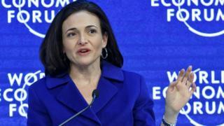 Sheryl Sandberg at the World Economic Forum in Davos in January 2016
