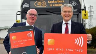 Stagecoach UK Bus Managing Director Robert Montgomery (left) and Transport Minister Andrew Jones