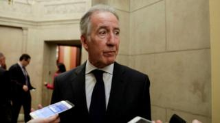 Ways and Means Committee Chairman Richard Neal talking to reporters