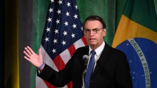 Jair Bolsonaro discursa nos EUA