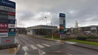 Newport Retail Park in Spytty
