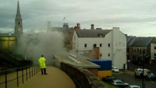 Fire near Inverness Castle