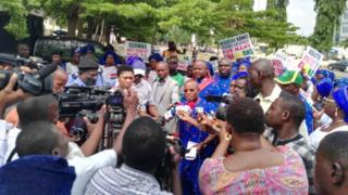 NANTS march go ECOWAS office and Ghana high commission for Abuja
