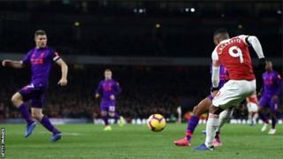 Arsenal a égalisé grâce à Lacazette.