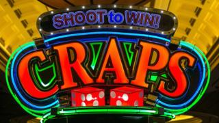 "An illuminated sign for the casino game ""craps"" at Caesars Palace Hotel in Las Vegas, Nevada, 29 May 2017"
