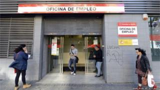 Unemployment office in Spain
