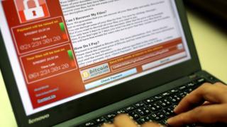 El ramsonware WannaCry en una computadora