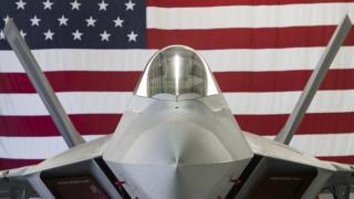 A US Air Force Lockheed Martin F-22 Raptor stealth fighter aircraft