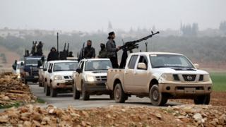 Abarwanyi ba Nusra Front mu bumanuko bwa Syria mu 2014